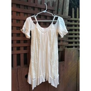 Mossimo Cold Shoulder Bohemian Ivory Dress Size S